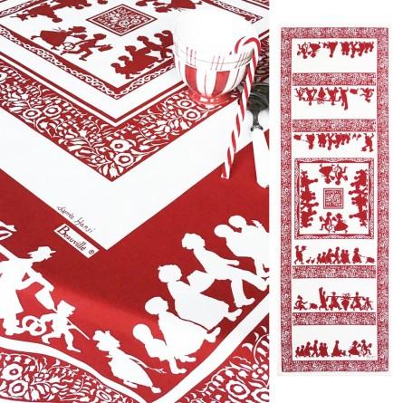 Silhouettes Rot Tischläufer