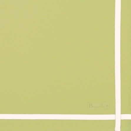 Zweifarbige Serviette - Blattgrün/Weiß