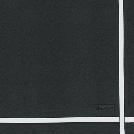 Serviette Bicolore - Graphite/Blanc