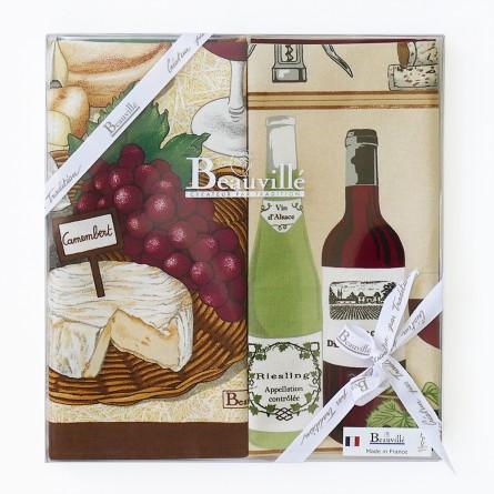 Tea-towel gift box Impression d'été