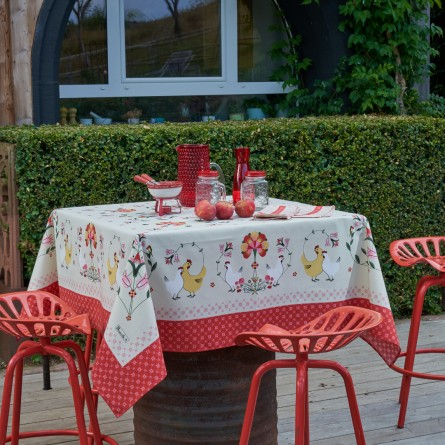 Lunéville Red tablecloth