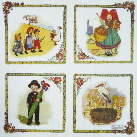 Serviettes en papier Alsace