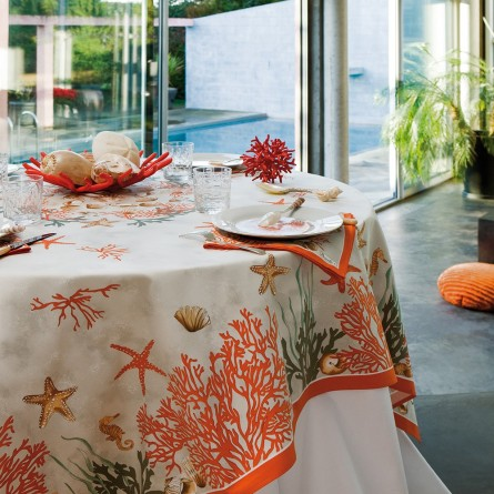 Corail Tablecloth Red