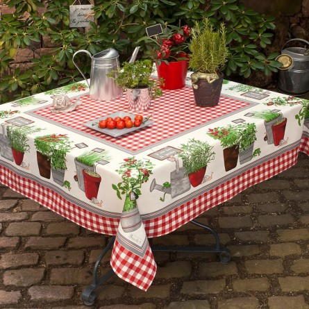 Potager Tablecloth Red