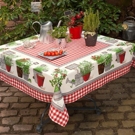 Potager coated Tablecloth