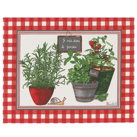 Potager coated Placemat Red