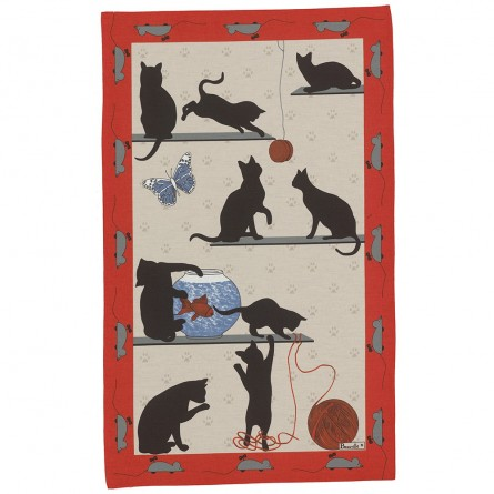 Chat Pitre Tea-Towel