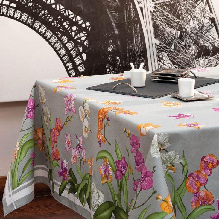 Nappe Orchidées Beauvillé pour la fête des Mères