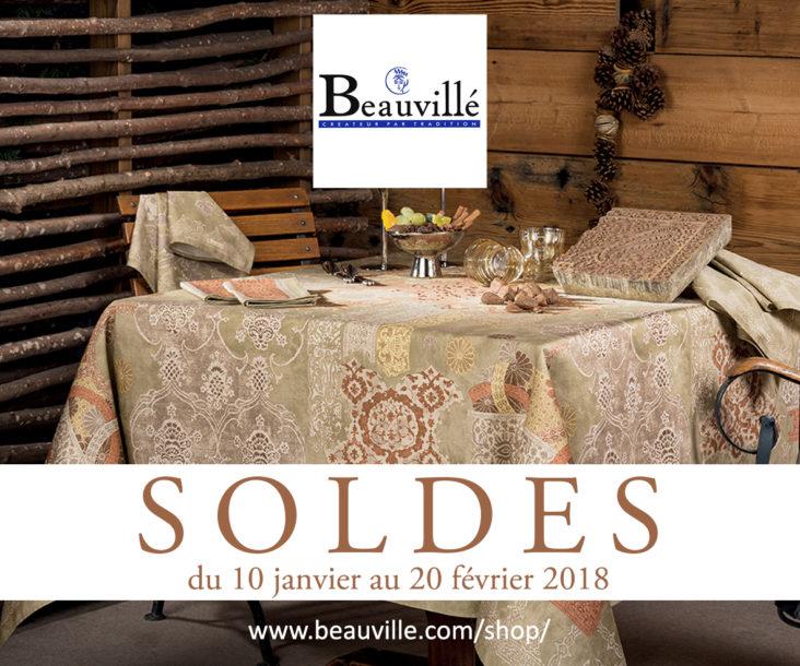 soldes linge de table jusqu 50 beauvill. Black Bedroom Furniture Sets. Home Design Ideas