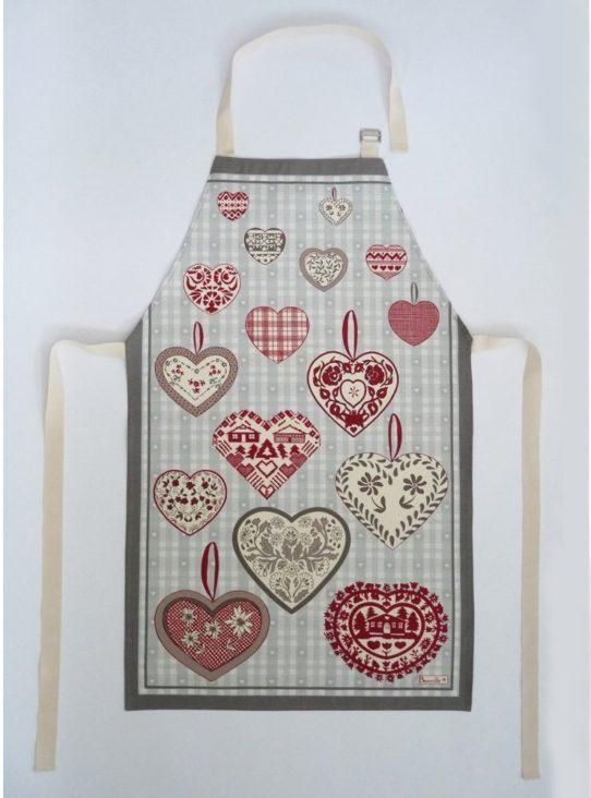 tablier coeur cadeau st valentin