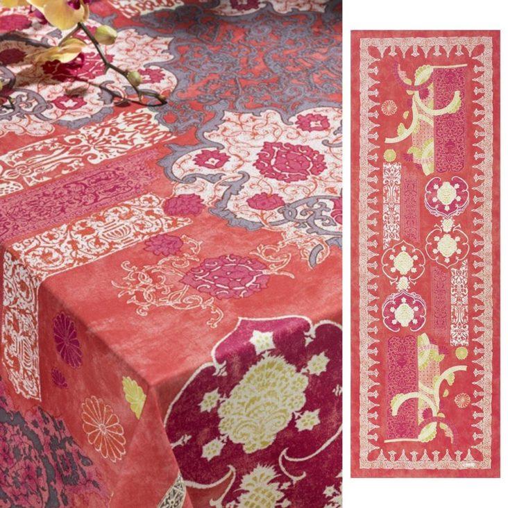 nappe romantique couleurs chaudes