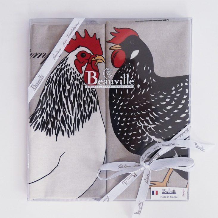 coffret cadeau torchon cuisine poule